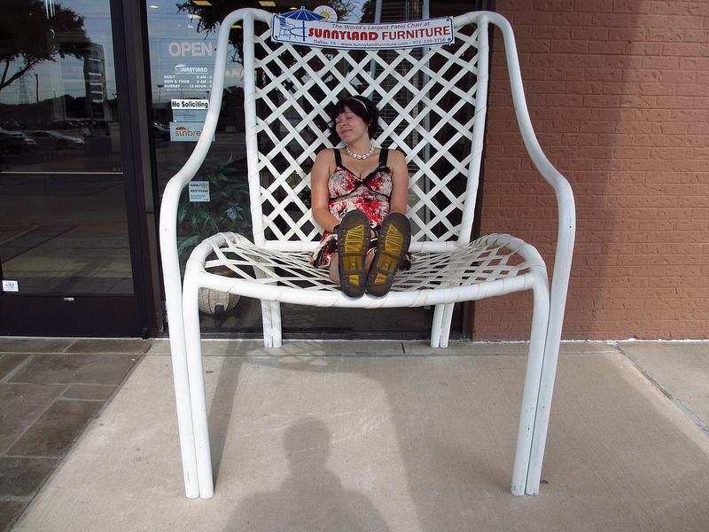 Giant Brown Jordan Patio Chair